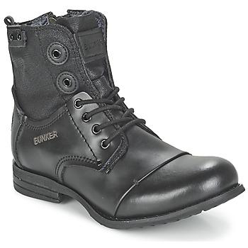 Topánky Ženy Polokozačky Bunker SARA čierna