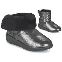 Topánky Ženy Polokozačky FitFlop SUPERCUSH MUKLOAFF SHIMMER Strieborná