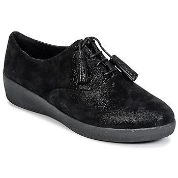 Topánky Ženy Derbie FitFlop CLASSIC TASSEL SUPEROXFORD Čierna