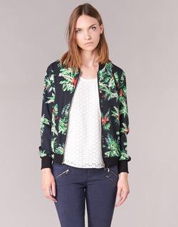 Oblečenie Ženy Saká a blejzre Moony Mood MIBOU Námornícka modrá / Zelená