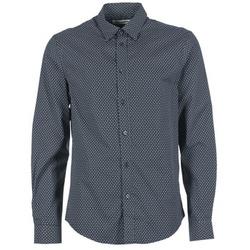 Oblečenie Muži Košele s dlhým rukávom Ben Sherman LS MICRO PAISLEY Námornícka modrá