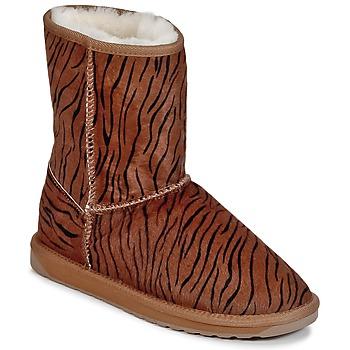 Topánky Ženy Polokozačky EMU STINGER FUR LO Tiger