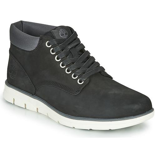 Topánky Muži Členkové tenisky Timberland BRADSTREET CHUKKA LEATHER Čierna
