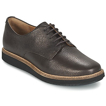 Topánky Ženy Derbie Clarks GLICK DARBY Hnedá