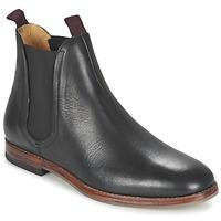 Topánky Muži Polokozačky Hudson TAMPER CALF Čierna