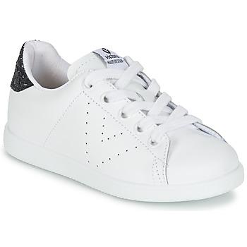 Topánky Dievčatá Nízke tenisky Victoria DEPORTIVO BASKET PIEL KID Biela