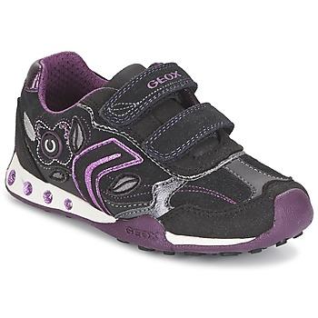 Topánky Dievčatá Nízke tenisky Geox NEW JOCKER GIRL čierna / Ružová