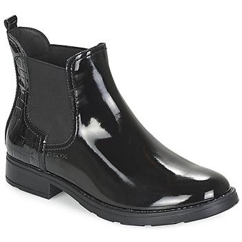 Topánky Dievčatá Polokozačky Geox SOFIA čierna