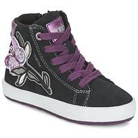 Topánky Dievčatá Členkové tenisky Geox WITTY čierna