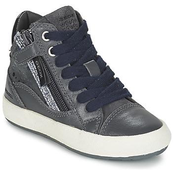 Topánky Dievčatá Členkové tenisky Geox WITTY šedá