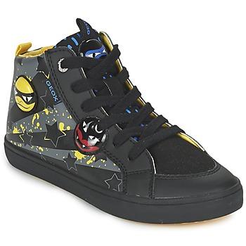 Topánky Chlapci Členkové tenisky Geox KIWI BOY čierna / žltá