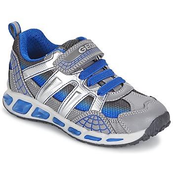 Topánky Chlapci Nízke tenisky Geox SHUTTLE BOY šedá / Modrá