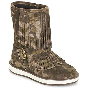Topánky Dievčatá Polokozačky Geox NOHA Zelená