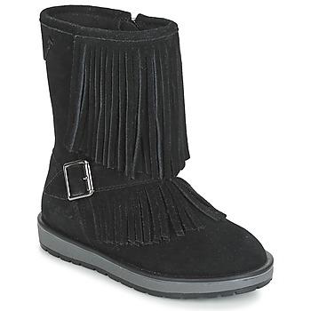 Topánky Dievčatá Polokozačky Geox NOHA Čierna