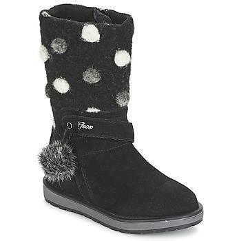 Topánky Dievčatá Čižmy do mesta Geox NOHA čierna