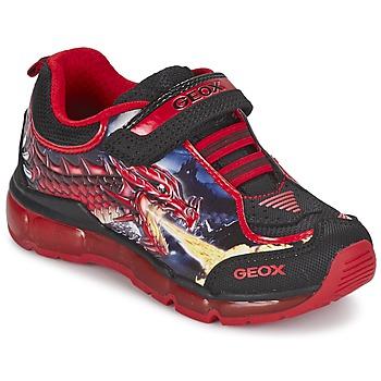 Topánky Chlapci Nízke tenisky Geox ANDROID BOY čierna / červená