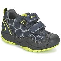 Topánky Chlapci Nízke tenisky Geox NEW SAVAGE BOY Modrá / žltá