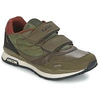 Topánky Chlapci Nízke tenisky Geox PAVEL Zelená / Oranžová