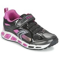 Topánky Dievčatá Nízke tenisky Geox SHUTTLE GIRL čierna / Ružová