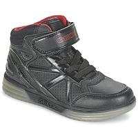 Topánky Chlapci Členkové tenisky Geox ARGONAT BOY čierna / červená