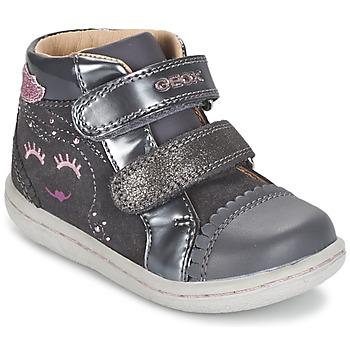 Topánky Dievčatá Členkové tenisky Geox B FLICK GIRL šedá