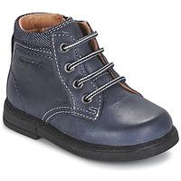 Topánky Chlapci Polokozačky Geox B GLIMMER Modrá
