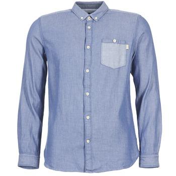 Oblečenie Muži Košele s dlhým rukávom Tom Tailor INIDULLE Modrá