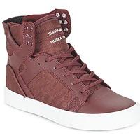 Topánky Členkové tenisky Supra SKYTOP Bordová
