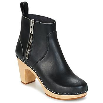 Topánky Ženy Čižmičky Swedish hasbeens ZIP IT SUPER HIGH čierna