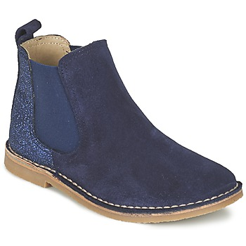 Topánky Dievčatá Polokozačky Citrouille et Compagnie FIGOULI Modrá