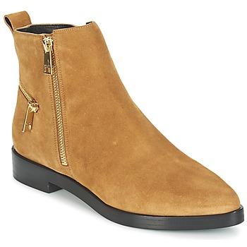 Topánky Ženy Polokozačky Kenzo TOTEM FLAT BOOTS Ťavia hnedá