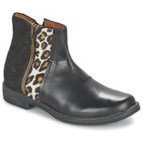 Topánky Dievčatá Polokozačky Shwik TIJUANA WILD Čierna / Leopard