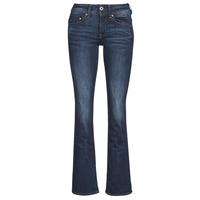 Oblečenie Ženy Džínsy Bootcut G-Star Raw MIDGE SADDLE MID BOOTLEG Neutrálna / Stretch / Denim / DK / Aged