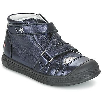 Topánky Dievčatá Polokozačky GBB NADEGE Námornícka modrá