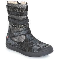Topánky Dievčatá Čižmy do mesta GBB NOURIA Čierna / Metalická