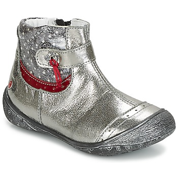 Topánky Dievčatá Polokozačky GBB NYMPHE Šedá / Printed