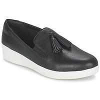 Topánky Ženy Slip-on FitFlop TASSEL SUPERSKATE Čierna