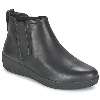 Topánky Ženy Polokozačky FitFlop SUPERCHELSEA BOOT čierna