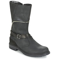 Topánky Dievčatá Čižmy do mesta Ikks FLORA čierna