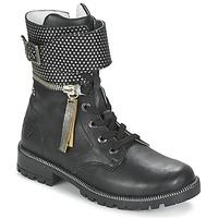 Topánky Dievčatá Polokozačky Ikks PEGGY Čierna