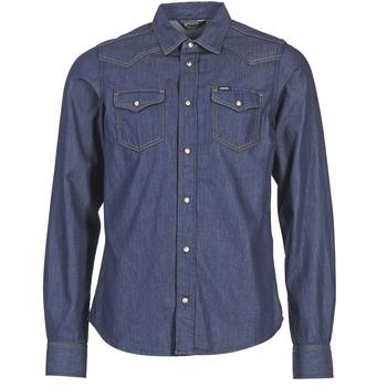 Oblečenie Muži Košele s dlhým rukávom Diesel NEW SONORA Modrá