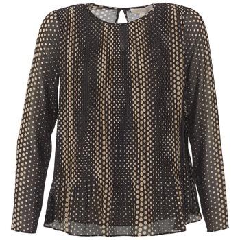 Oblečenie Ženy Blúzky MICHAEL Michael Kors OMBOBO Čierna / Béžová