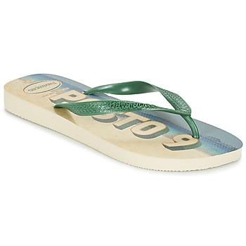 Topánky Muži Žabky Havaianas POSTO CODE Zelená / Modrá