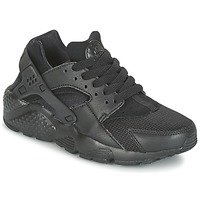 Topánky Chlapci Nízke tenisky Nike HUARACHE RUN JUNIOR čierna