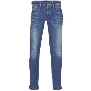 Oblečenie Muži Džínsy Slim Replay ANBASS Modrá / Medium