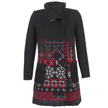 Oblečenie Ženy Kabáty Desigual JEFINITE čierna / červená