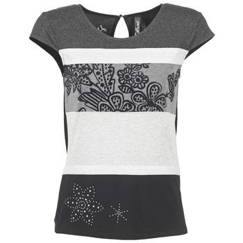 Oblečenie Ženy Tričká s krátkym rukávom Desigual KITEPI Biela / šedá / čierna