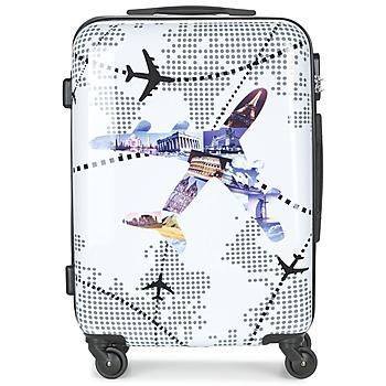 Tašky Pevné cestovné kufre David Jones OUSKILE 50L Viacfarebná