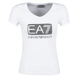 Oblečenie Ženy Tričká s krátkym rukávom Emporio Armani EA7 FOUNAROLA Biela