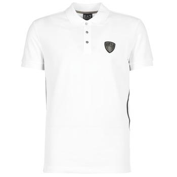 Oblečenie Muži Polokošele s krátkym rukávom Emporio Armani EA7 ONTRAFOL Biela